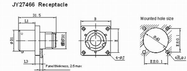GJB599 series(MIL-C-38999)Ⅰcircular electrical connector