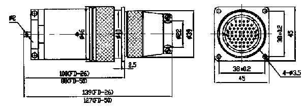 FD、FDA Circular Separating Electrical Connector series