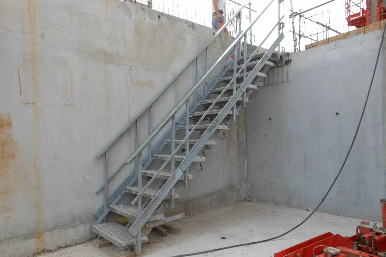 Escalier Sur Mesure En Acier Galvanise Aluminium Et Inox Anoxa