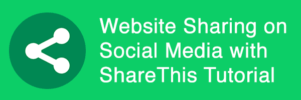 Website Sharing on Social Media with ShareThis Tutorial
