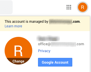 screen image showing how to access google account
