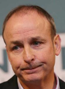 Mícheál Martin looking dumb