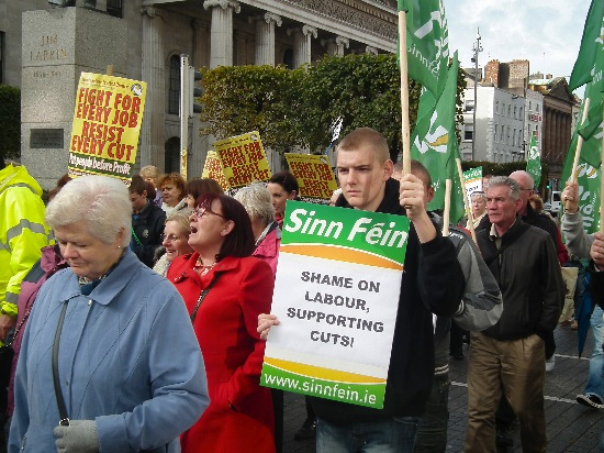 SF protests against Dublin cuts