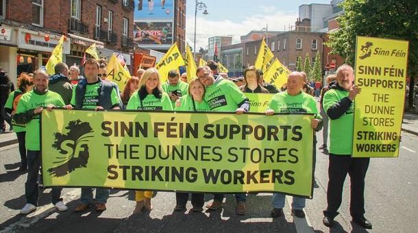Sinn Féin supports Dunnes Stores workers