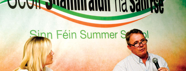 Frankie Gallagher Ulster Political Research Group, Sinn Féin Summer School