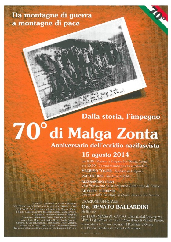 Manifesto Malga Zonta 2014