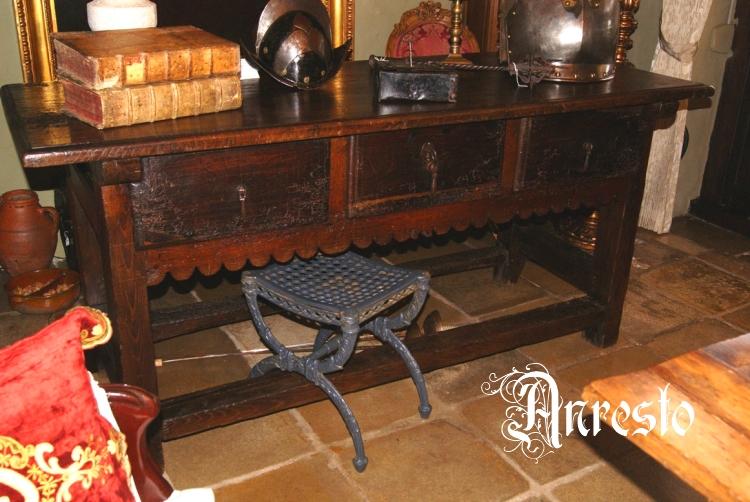 Antieke Spaanse Tafel : Ref. 14 spaanse tafel antiek 17e eeuws anresto decor