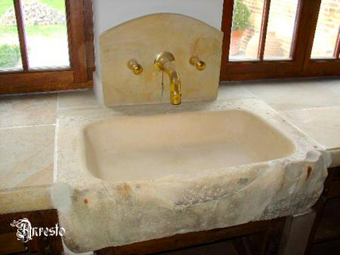 Onwijs Ref. 02 – Spoelbak Bourgondische steen - Anresto keuken ontwerp YH-58
