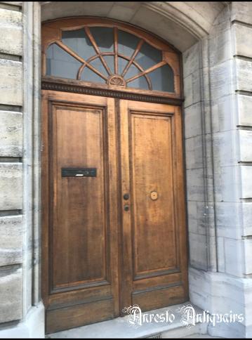 Ref. 54 – Dubbele eiken voordeur, dubbele eiken buitendeur