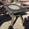 Ref. 23 Industriele tuintafel, oude ijzeren industriele tuintafel foto 3