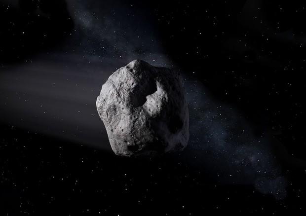 Rappresentazione artistica di un asteroide vicino alla Terra (fonte: NASA/JPL-Caltech) © Ansa