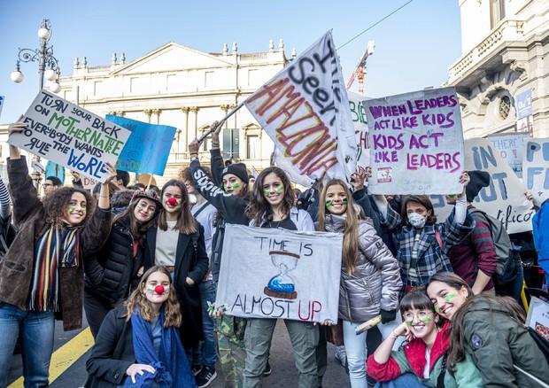 Sciopero clima: a Milano diventa 'Block Friday' © ANSA