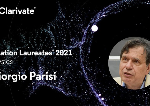 Il fisico Giorgio Parisi primo italiano citato nella classifica Clarivate Citation laureates 2021 (fonte: Clarivate) © Ansa