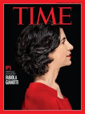 Prova di copertima di Time dedicata a Fabiola Gianotti (fonte: Time)