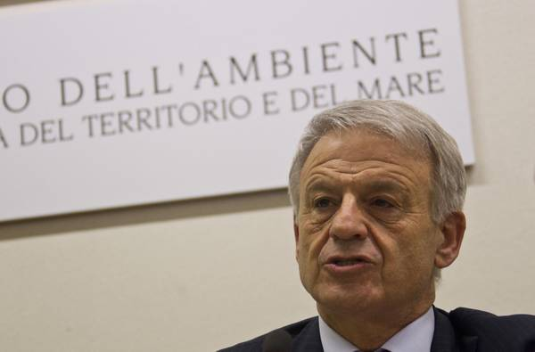 Il ministro dell'Ambiente Corrado Clini