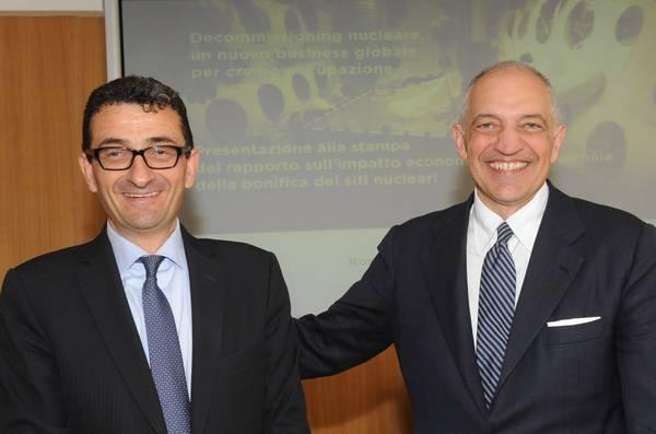 Davide Tabarelli, Presidente di Nomisma Energia (s), e Giuseppe Nucci, Amministratore Delegato di Sogin.