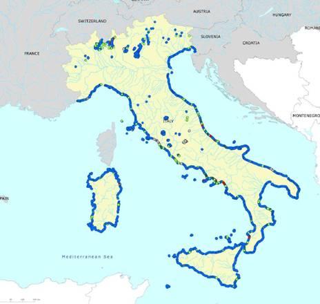 mappa spiagge balneabili italiane