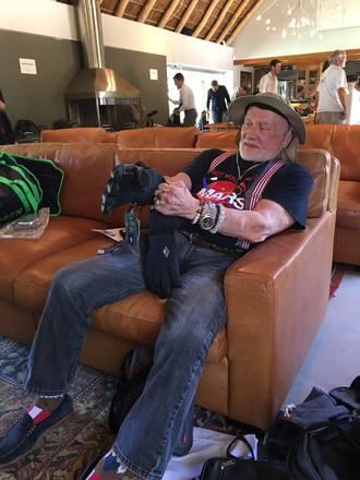 Buzz Aldrin durante il viaggio di andata al Polo Sud, in un suo tweet