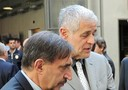 Il coordinatore del Pdl Ignazio La Russa (s) e il presidente della Regione Lombardia Roberto Formigoni