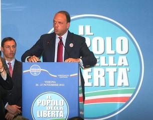 Il segretario nazionale del Pdl Angelino Alfano