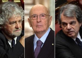 Napolitano tra Grillo e Brunetta