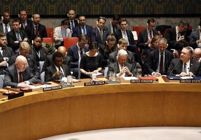 La riunione del Consiglio di Sicurezza dell'Onu (ANSA)