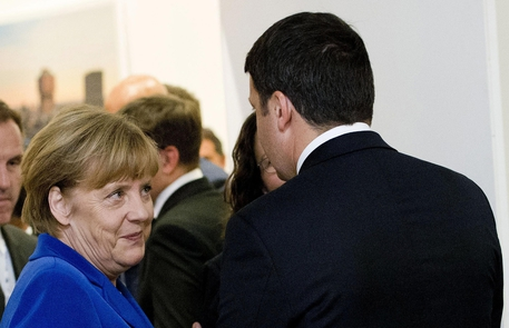 Matteo Renzi e Angela Merkel (foto: ANSA)