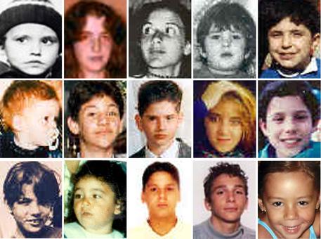 Alcuni dei volti dei minori scomparsi in Italia © ANSA