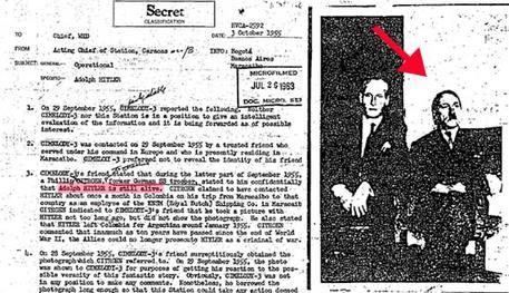 File Cia desecretato, Hitler dopo guerra vivo in Sudamerica  Lo rivela documento pubblicato su media Usa, LA FOTO © Ansa