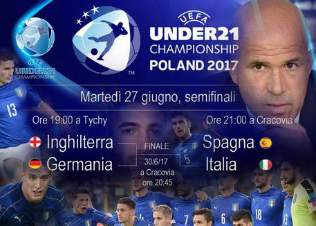 Europei under21, Inghilterra-Germania e Spagna-Italia © ANSA