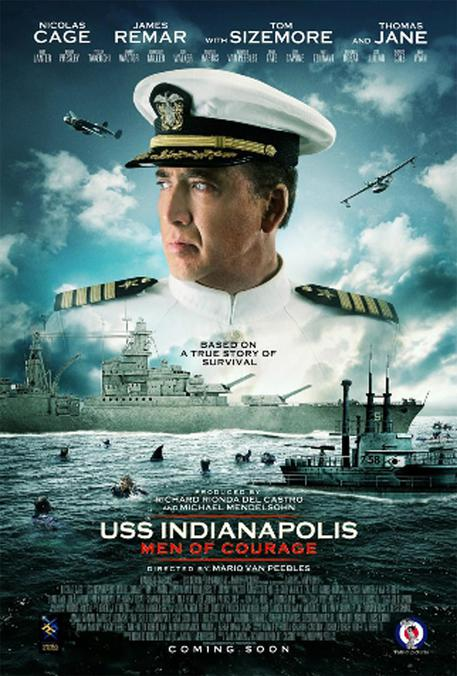 CINEMA: USS INDIANAPOLIS, CAGE EROICO CAPITANO MARINA © ANSA