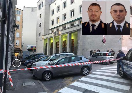 Sparatoria in Questura, i due agenti che hanno perso la vita © ANSA