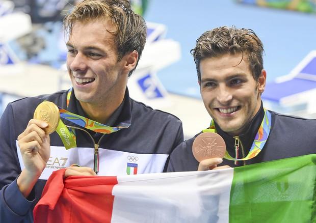 Gregorio Paltrinieri e Gabriele Detti (foto: ANSA)