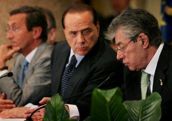 Berlusconi, Bossi e Fini