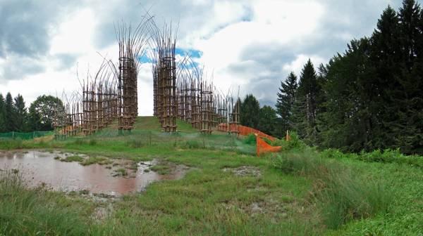 La cattedrale in costruzione