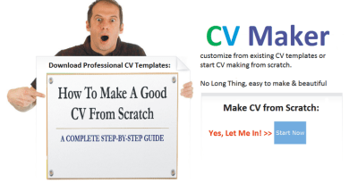 how to make a cv