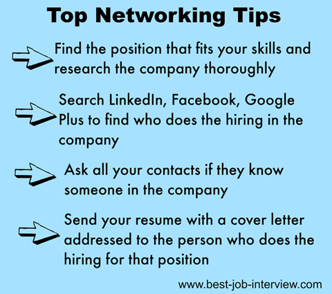 networking tips for job seekers