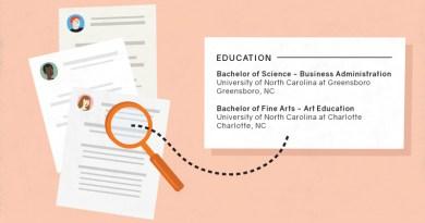 education on resume