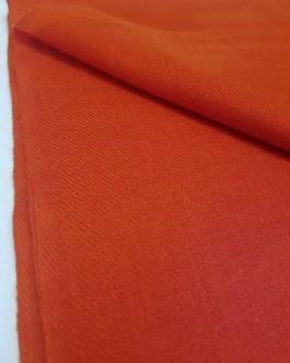 Étole Cachemire Unie «Orange Corail»