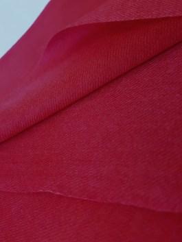 Étole Cachemire Unie «Rouge Framboise»