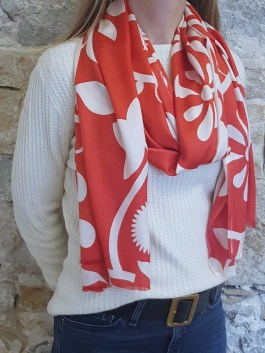 Foulard en Soie « Poppy Red »
