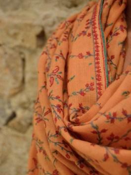 Pashmina Orange Jonquille – Châle 100x200cm