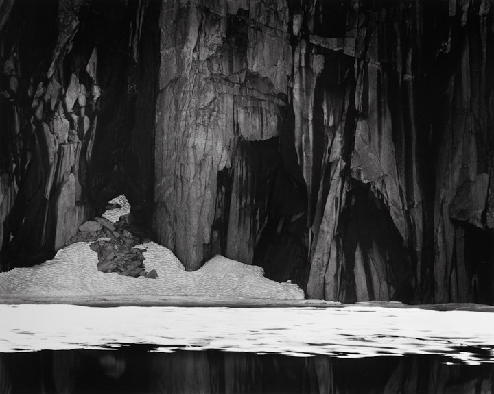 "Ansel Adams, ""Frozen Lake and Cliffs"""