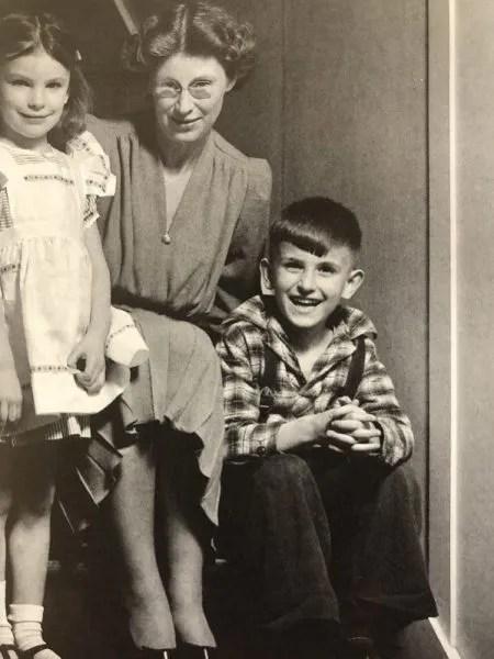 Anne, Virginia, and Michael, c. 1941