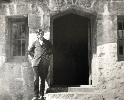 Ansel at LeConte Lodge, Yosemite Valley, California, c. 1921. Collection of Michael and Jeanne Adams.