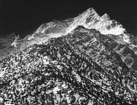 Scan of original print of Lone Pine Peak
