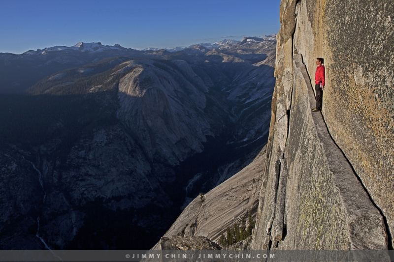 Alex Honnold on Thank God Ledge, Yosemite Climbing