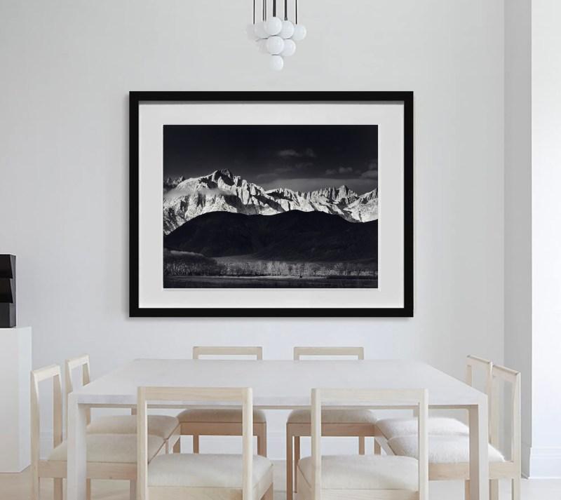 Winter Sunrise, Sierra Nevada from Lone Pine by Ansel Adams