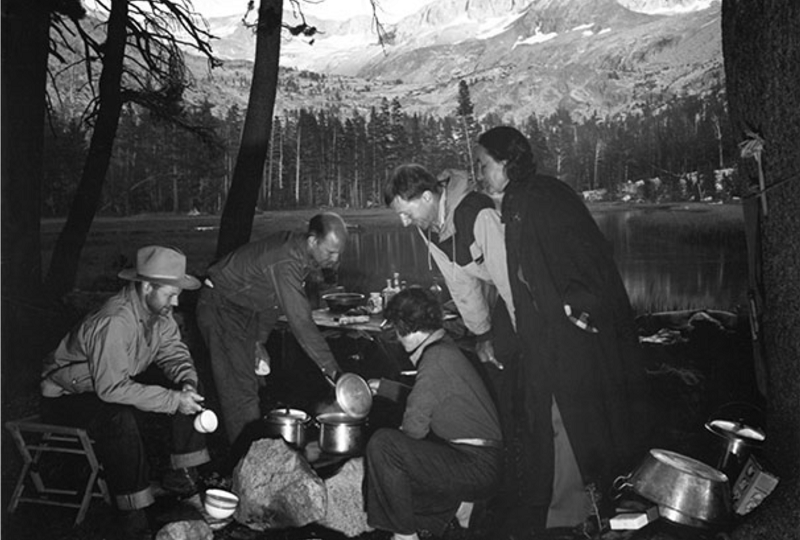 Around Campfire by Ansel Adams