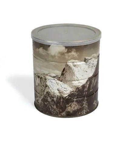 Yosemite Valley Winter by Ansel Adams on Hills Brothers Coffee Can